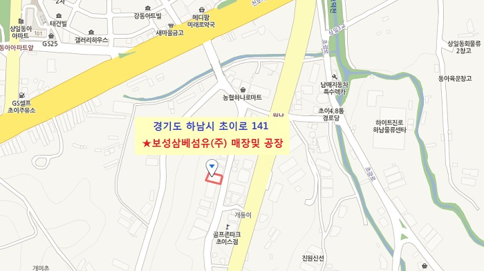 보성삼베섬유 매장및 공장 map