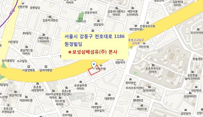 보성삼베섬유 본사 map